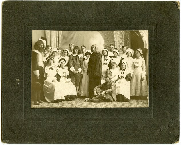 Early                                                           orig. cabinet                                                           photo                                                           Thanksgiving /                                                           Pilgram /                                                           Native                                                           American play                                                           costumes 19th                                                           c Clarkfield                                                           MN