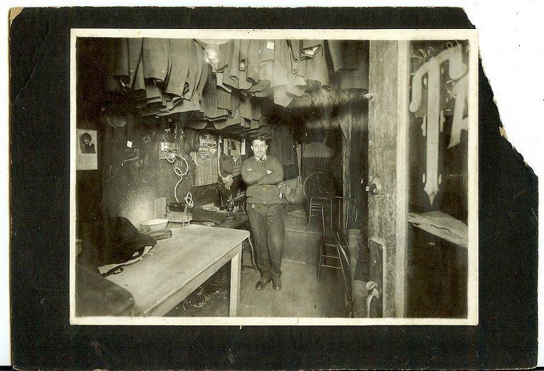 Bemidji                                                           Mn Tailor Shop                                                           interior photo                                                           Hakkerup 1910