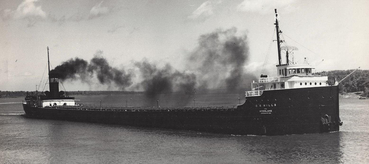 D.O. Mills                                                         Steamship                                                         Freighter Ship -                                                         the Interlake                                                         Steamship Co.                                                         Lockwood                                                         Original                                                         Photograph                                                         Whitmore Lake                                                         Mich