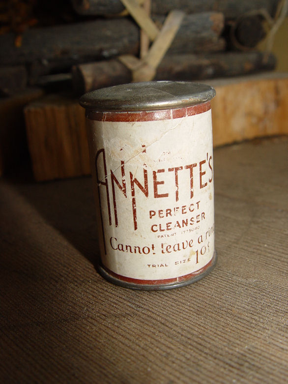 Annette's Perfect Cleanser                                         ~ Cannot leave a ring Antique                                         Tin
