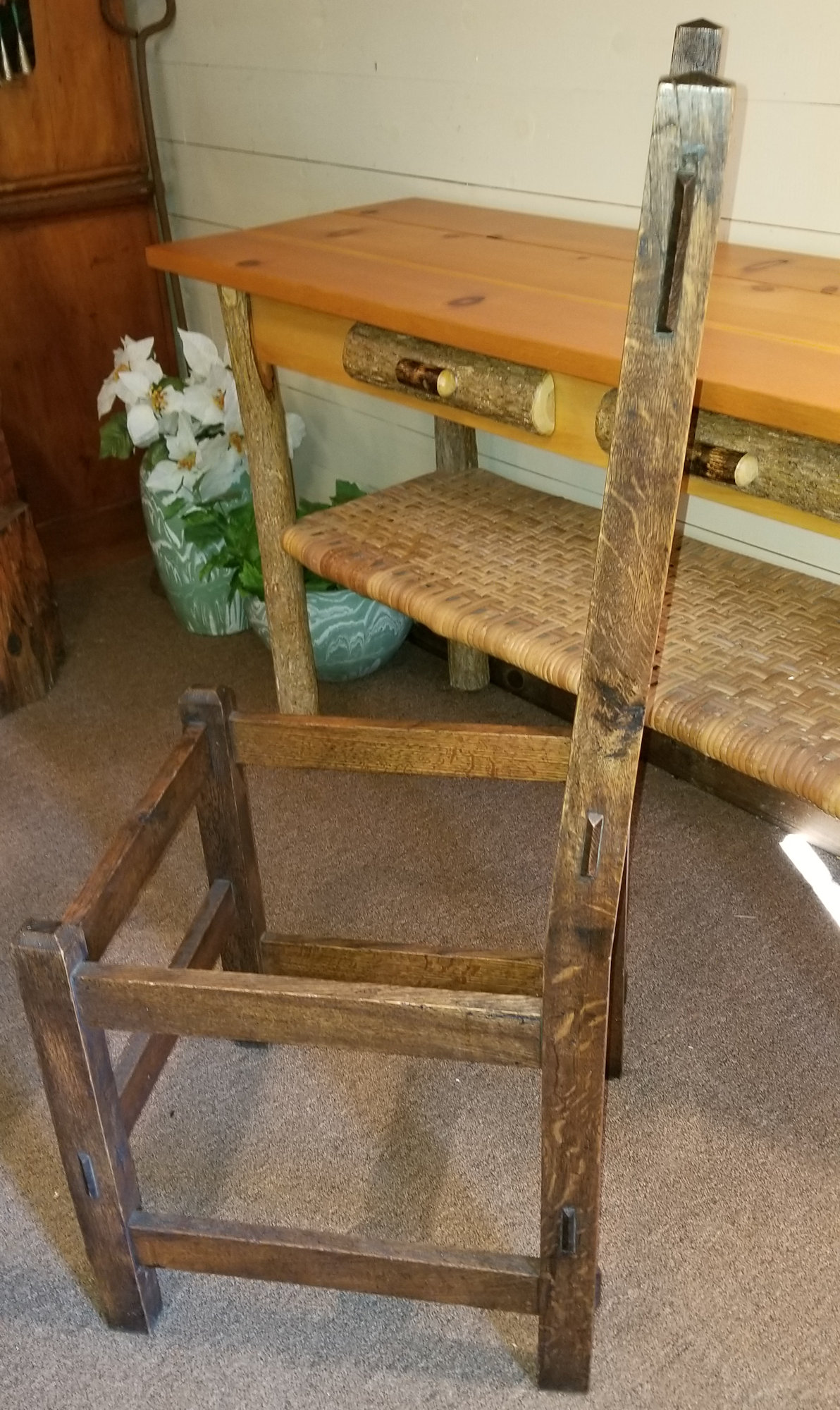 Arts & Crafts Mission                                         Oak 1905 - 1910 Antique                                         Craftsman Chair
