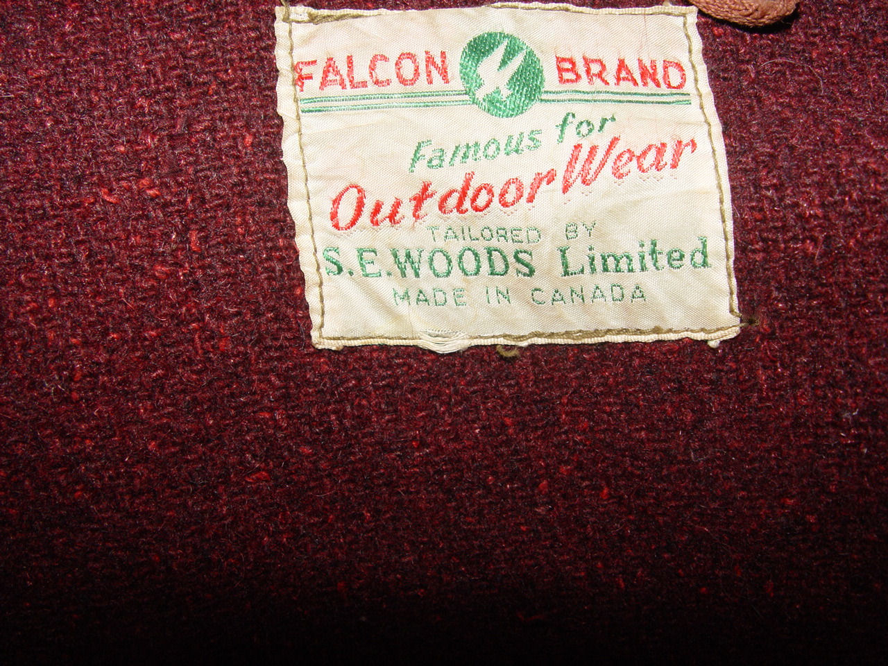 Vintage                                         Falcon Brand SE Woods Canada                                         Winter Hooded Man's Jacket ~                                         NOS