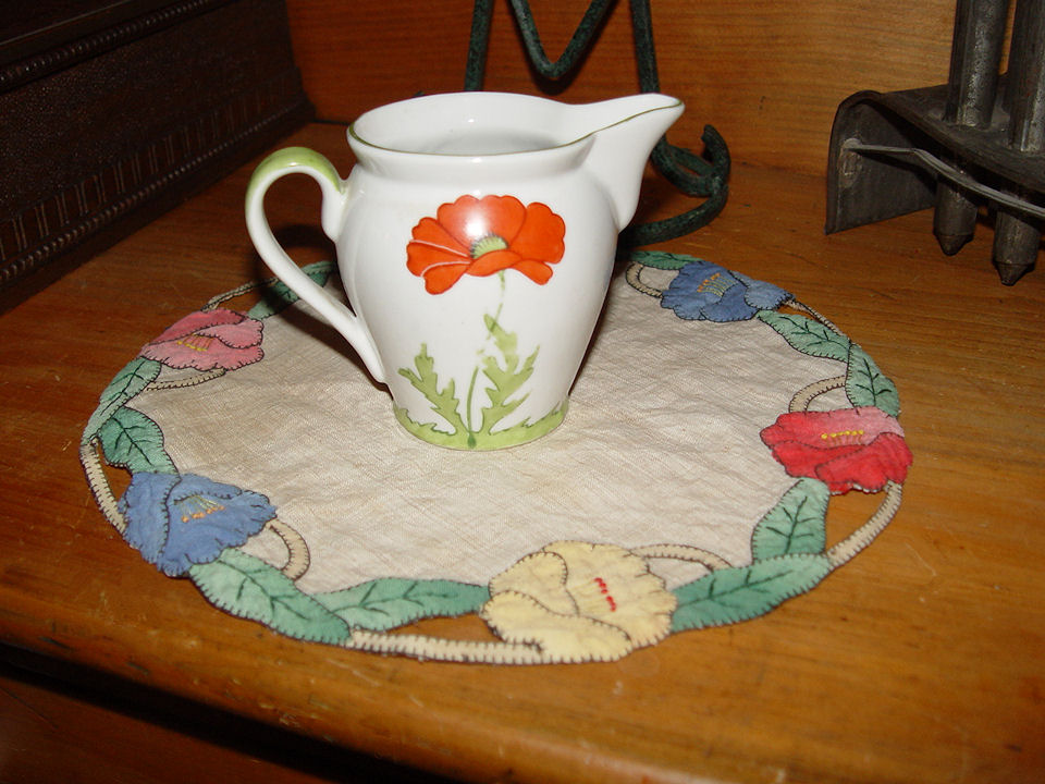 Art Nouveau Hand Painted                                         Poppy Creamer ~ Arts and Crafts,                                         Mission